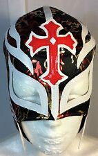 REY MISTERIO WRESTLING-LUCHADOR! FLAMES PRINT! MASK!BOOYAKA 619!AWESOME DESIGN!!