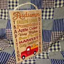 """Personalized Autumn Blessings Fall Pumpkin Truck Sign 10.5""""x7"""" CUSTOM Plaque"""