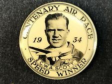 Vintage 1934 DH.88 Comet Airplane Australia Air Race Pilot Scott Pin Badge