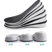 Men Women Invisible Heel Lift Taller Shoe Inserts Height Increase Insoles Pad