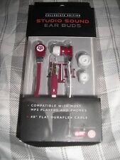 New TX A T M Aggies Licensed Collegiate Edition Studio Sound Ear Buds phone MP3