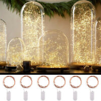 Battery Copper Wire Fairy String Lights Wedding Party Wine Bottle Cork 120 LED