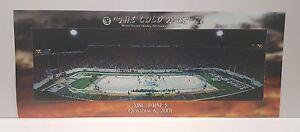 The Cold War Michigan State MSU Hockey vs U of M Panoramic 2001 Poster
