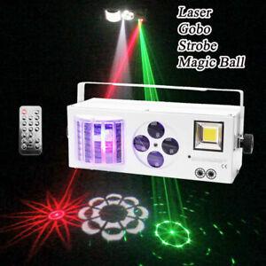 Laser Projector Pattern Stage Lighting RGBW 4 in 1 LED DMX Gobos Strobe DJ Disco