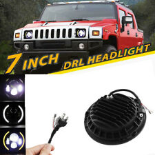 2x 7Inch 150W LED Headlight High/Low DRL Beam Angel Eyes For Hummer H1 H2 H3 SUV
