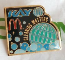 Vintage KAY McDonald's RARE Cleaning Matters Fastfood Pinback Brooch Button PIN