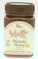 Pacific Resources New Zealand Manuka Honey Bio Active 20+ 500g / 1.1 lbs Jar