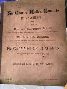 Unique Collectors Item ❤️ 1895 Manchester Halle Orchestra Opening Programmes