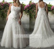 Custom Lace Plus Size Bridal Gown Wedding Dress 16-18-20-22-24-26-28++