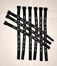 Woven Jesus Religious WWJD Bracelet Fundraiser Fashion Wristband -Black (3/Pack)