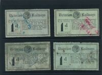 VICTORIA Railways 1887-1902 6th series 1st issue used 1dx5 green on black