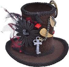 Halloween Victorian & Edwardian Fancy Party Steampunk Mini Top Hat Mad Hatter UK
