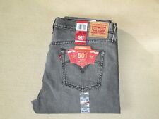 30 X 28 LEVI 501 STRETCH  BUTTON-FLY TAPERED LEG JEANS FOR WOMEN -GRAY- NWT