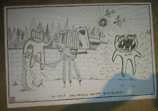 RADIOHEAD concert tour poster print PITTSBURGH 7-26-18 2018 Stanley Donwood DING