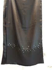Elegant Ladies Womens Silky Satin & Crepe Beaded Evening Scarf Shawl Wrap KLASS