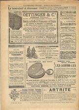 Stampa antica pubblicità SCOGLIA OTTOLINI velocipedi e altro 1894 Antique print