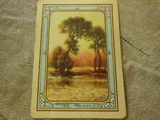 Vintage 1920 U.S. Playing Card Company The Ripples Blank Card