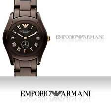 EMPORIO ARMANI LADIE'S COLLECTION CHOCOLATE CERAMIC WATCH AR1448