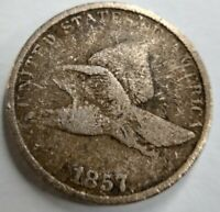 1857 1C Flying Eagle Small Cent VG F Very Good Fine Minor Corrosion