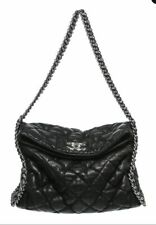 4ca2c4dc4b9f CHANEL Black Chain Around Hobo Bag DISTRESSED LAMBSKIN QUILTED LEATHER