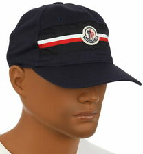 NEW MONCLER BLUE LOGO WEB BASEBALL CAP HAT ONE SIZE AUTHENTICITY CODE!