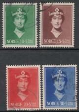 Norway #B11-14 used Queen Charity set 1939 cv $39.50