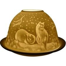 Cats at night tea light, candle dome by welink