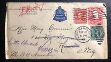 1905 Cincinnati Usa Advertising Cover to Venice Italy Long Distance Telephone