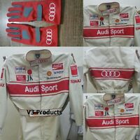 Audi Sports Race Suit CIK FIA Level 2 Approved  with free gift Gloves