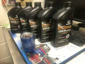 GENUINE Honda 5w-20 Oil (5 qts.) + Honda Oil Filter ( Oil Change Kit)