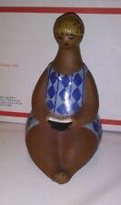 "Scandinavian Art Pottery Amalia Figurine Lisa Larson Gustavsberg Sweden 6.5"""