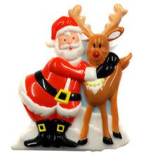 ACME Singing Santa Claus Christmas Hugging Rein Deer Magnetic Clip 92806-99806