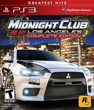 Midnight Club: Los Angeles Complete Edition Sony PS3 COMPLETE Greatest Hits