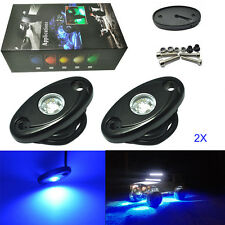 "2 Pcs 2"" Blue CREE LED Rock Lights JEEP Wrangler Off-Road Under Wheel Rig Lights"