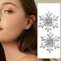 1 Paar Weihnachten Schneeflocke Ohrstecker Ohrringe Xmas Girls Jewellery M1H6