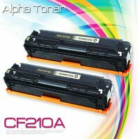 2PK CF210A Black Toner Cartridge For HP 131A Color LaserJet Pro 200 M251n M276nw