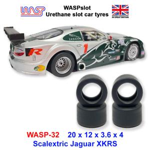 Urethane Slot Car Tyres - WASP 32 - Scalextric Jaguar XKRS Rear tyres, 1/32