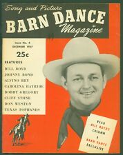 Vintage Barn Dance Magazine 1947 Square Country Music Bill Boyd Photo Cover