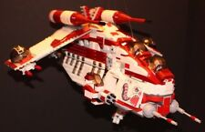 LEGO® brick STAR WARS™ Custom 7676 red GATLING REPUBLIC GUNSHIP + 6 Minifigures