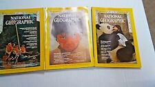1972 NATIONAL GEOGRAPHIC MAGAZINES 3 ISSUES ALL DIFFERENT not complete (NG17)