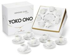 YOKO ONO 'Mended (Broken) Cups', 2015 illy Espresso Set (7) Art Collection *NEW*