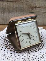 Vintage Westclox Alarm Clock In Case Working Made in Japan