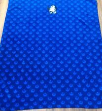 "Star Wars R2D2 Throw NEW Super Soft Blanket 46"" x 60"""