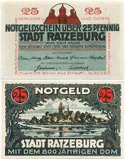 Ratzeburg, 1 Schein Notgeld 1921, Stadt Dom, 25 Pfennig