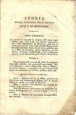 Libro Storia Scoperta Antica Acqua di Mercurio S. Giorgio in Velabro C. Fea 1828