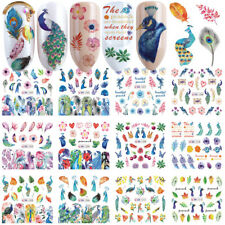 Flower  Water Transfer Decals Peacock Nail Art Decoration Nail Sticker