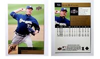 Seth McClung Signed 2009 Upper Deck #725 Card Milwaukee Brewers Auto Autograph