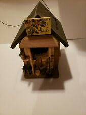Cute Decorative Hanging Wooden Antique Store Cabin