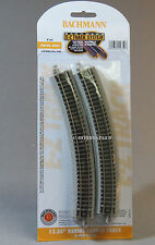 BACHMANN N SCALE E-Z TRACK 12.50 INCH RADIUS CURVE 6 sections gauge ez 44852 NEW