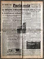 N10 La Une Du Journal Paris Soir 21 Aout 1942